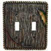 HiEnd Accents Rainbow Trout Double Switch Plate (Set of 4)