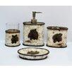 HiEnd Accents Pine Cone 4 Piece Birch Bath Set