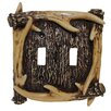 HiEnd Accents Antler Double Switch Plate (Set of 4)