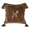 HiEnd Accents Moose Lodge Throw Pillow