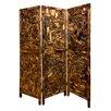 """Screen Gems 69"""" x 60"""" Driftwood Screen 3 Panel Room Divider"""