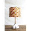 """Creative Co-Op Flirt Ceramic and Wood 25"""" H Desk Lamp with Drum Shade"""