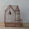 "Creative Co-Op Secret Garden Iron Wire Birdcage 14.5"" H Table Lamp"