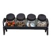 Creative Co-Op Inspired Home 4-Piece Jar Set with Cast Iron Stand