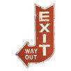 Creative Co-Op Urban Homestead Exit Sign Wall Decor