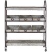 Creative Co-Op Casual Country Serving Cart