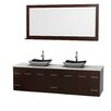 "Wyndham Collection Centra 80"" Double Bathroom Vanity Set with Mirror"