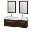 """Wyndham Collection Axa 60"""" Double Bathroom Vanity Set"""