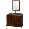 "Wyndham Collection Rochester 48"" Single Bathroom Vanity Set with Mirror"