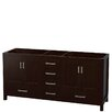 "Wyndham Collection Sheffield 72"" Double Bathroom Vanity Base"