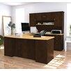 Bestar Manhattan Executive Desk with Hutch