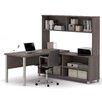 Bestar Pro-Linea 3-Piece L-Shape Desk Office Suite