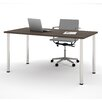 Bestar Computer Desk with Round Metal Leg