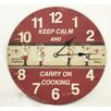 "Creative Motion 13.38"" Keep Calm and Carry on Cooking Clock"
