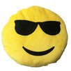 Creative Motion Smiley Face with Cool Sunglasses Emoji Pillow