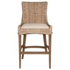 "Orient Express Furniture New Wicker Greco 30"" Bar Stool with Cushion (Set of 2)"