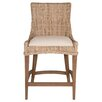 "Orient Express Furniture New Wicker Greco 26"" Bar Stool with Cushion (Set of 2)"