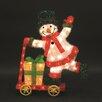 LB International Skateboarding Snowman Christmas Decoration