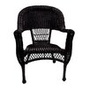 LB International Resin Wicker Patio Dining Arm Chairs