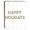 Artehouse LLC Happy Holidays Animal Print Wall Décor