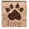 Artehouse LLC 'Love Paw' by Brandi Fitzgerald Graphic Art on Plaque