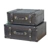 Quickway Imports Antique Style Suitcase With Straps (Set of 2)