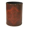 Quickway Imports 2-Gal Faux Leather Antique Waste Bin