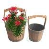 Quickway Imports 2 Piece Round Pot Planter Set