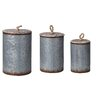 Transpac Imports, Inc Lost and Found 3 Piece Metal Bin Set with Lids