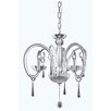 Elegant Lighting Scroll 3 Light Mini Crystal Chandelier
