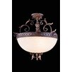 Elegant Lighting Troy 3 Light Bowl Pendant