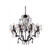 Elegant Lighting Charlotte 8 Light Crystal Chandelier