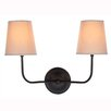 Elegant Lighting Lancaster 2 Light Armed Sconce