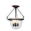 Elegant Lighting Seneca 3 Light Pendant Light