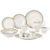 Lorren Home Trends Aria 57 Piece Porcelain Dinnerware Set