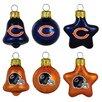 Topperscot 6 Piece NFL Ornament Set