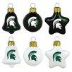 Topperscot 6 Piece NCAA Ornament Set
