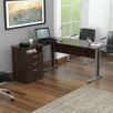 Inval Curved Top Desk with Metal Legs