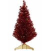 Vickerman Co. 3' Red Hot Artificial Tinsel Christmas Tree with Multi Lights