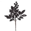 Vickerman Co. Sparkling Glittered Berry and Leaves Christmas Spray