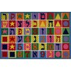 Fun Rugs Fun Time Hebrew Numbers and Letters Kids Rug