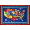 Fun Rugs Fun Time State Capitals Kids Rug