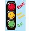 Fun Rugs Smiley World Traffic Signal Blue Area Rug