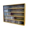 Wood Shed Multimedia Storage Rack