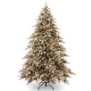 7 5 Flocked Fremont Spruce Christmas Tree With 750 Clear