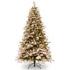National Tree Co. Snowy Everest 7.5' Medium Artificial Christmas Tree with 500 Clear Lights and Stand