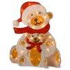 National Tree Co. Decorative Décor Pre-Lit Fabric Bear Christmas Decoration