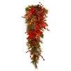 National Tree Co. Decorative Pre-Lit Tartan Plaid Teardrop