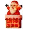 National Tree Co. Tinsel Santa on Chimney Christmas Decoration with 40 Clear Lights