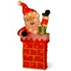 National Tree Co. Decorative Décor Pre-Lit Santa on Chimney Christmas Decoration